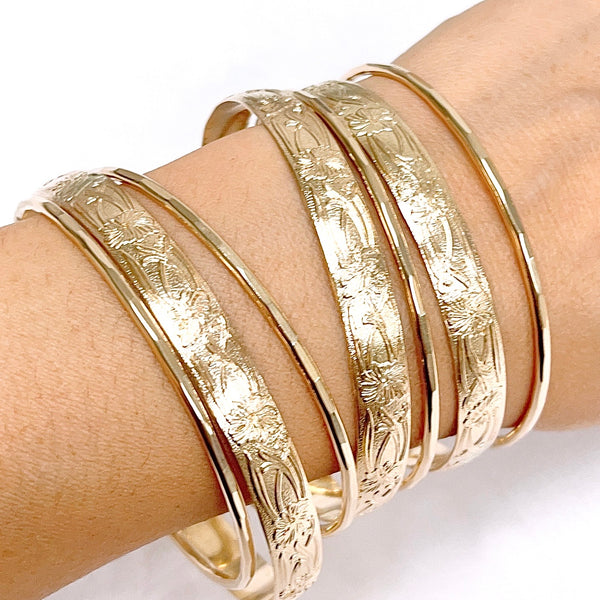 ATHENA bangles set - 8mm heirloom bangles (B550)