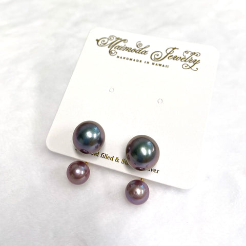 Double momi studs earrings