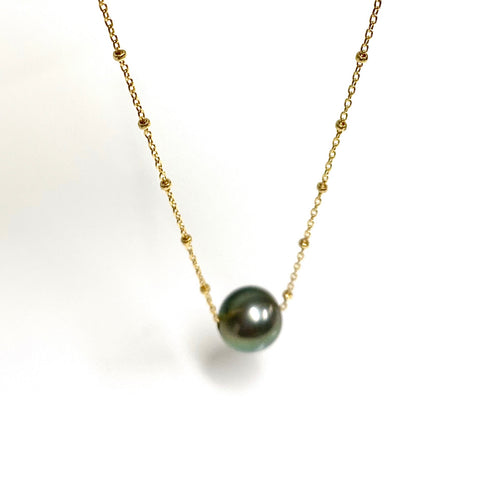 Necklace KEALANI - Tahitian pearl (N340)