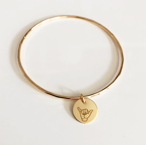 Bangle HALEY - Shaka charm (B542)