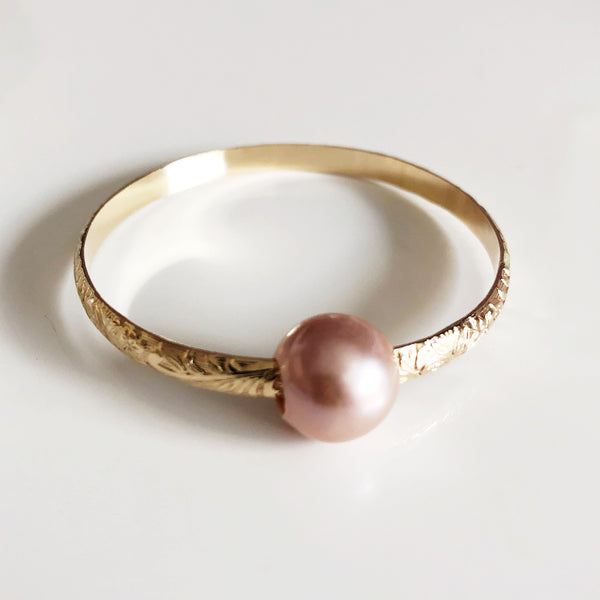 Bangle GIGI - pink Edison pearl (B408)