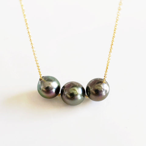 Necklace KRISTI- tahitian pearls (N315)