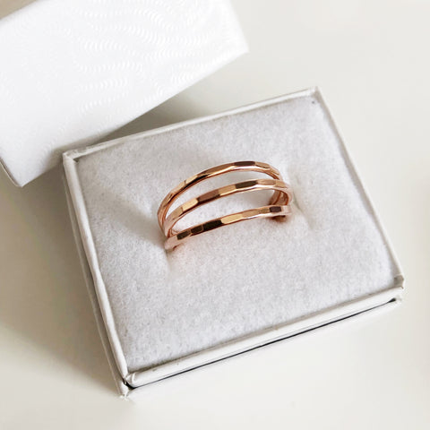 Clara rings (3 rings set) - rose gold (R193)