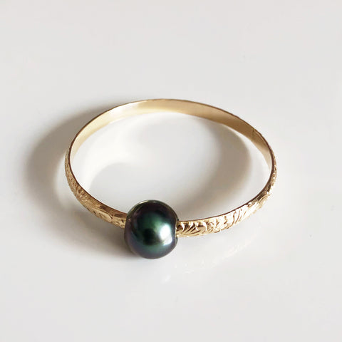 Bangle GIGI- Tahitian pearl (B312)