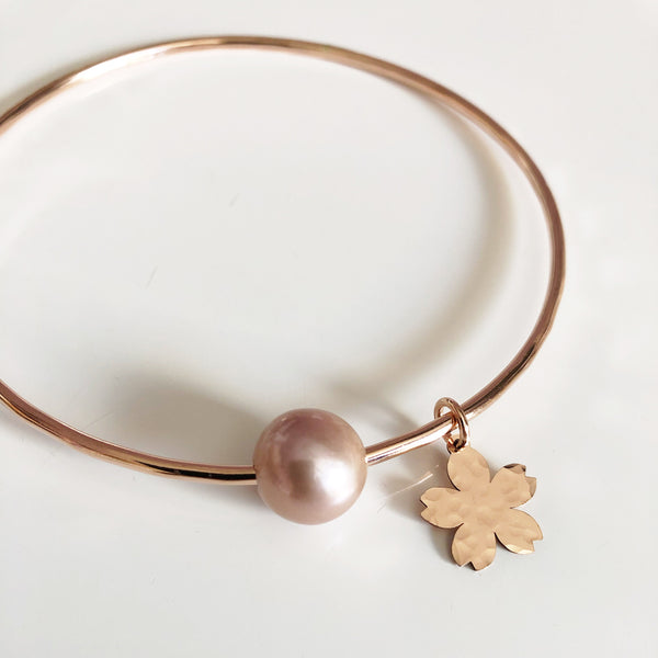 Bangle SAKURA - pink Edison pearl (B411)