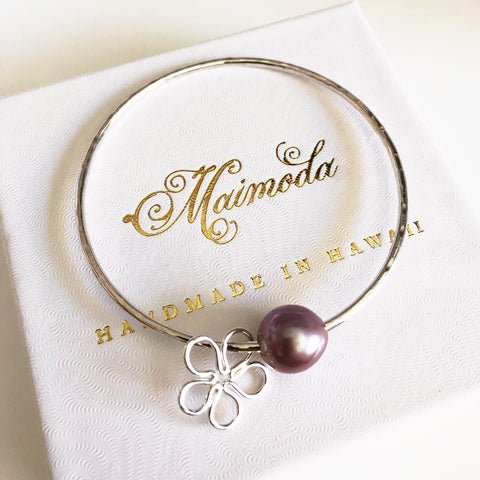 Bangle VIOLA - lavender pearl (B416)