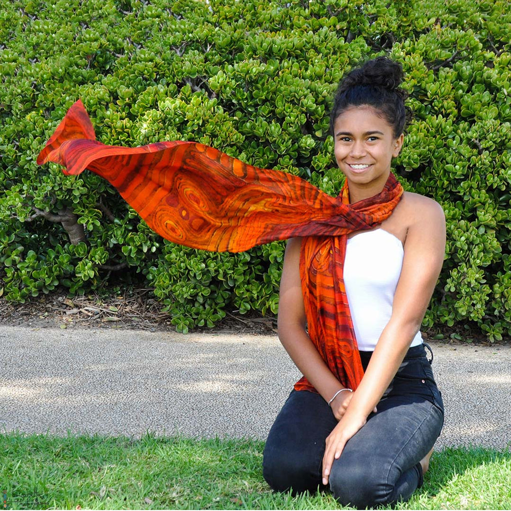 Corroboree Silk Scarf