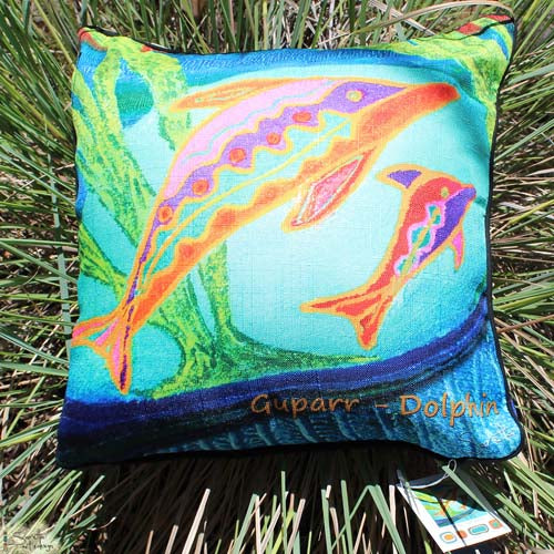 Cushion Cover - Totem Guparr Dolphin
