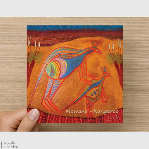 Greeting Card - Mowane Kangaroo
