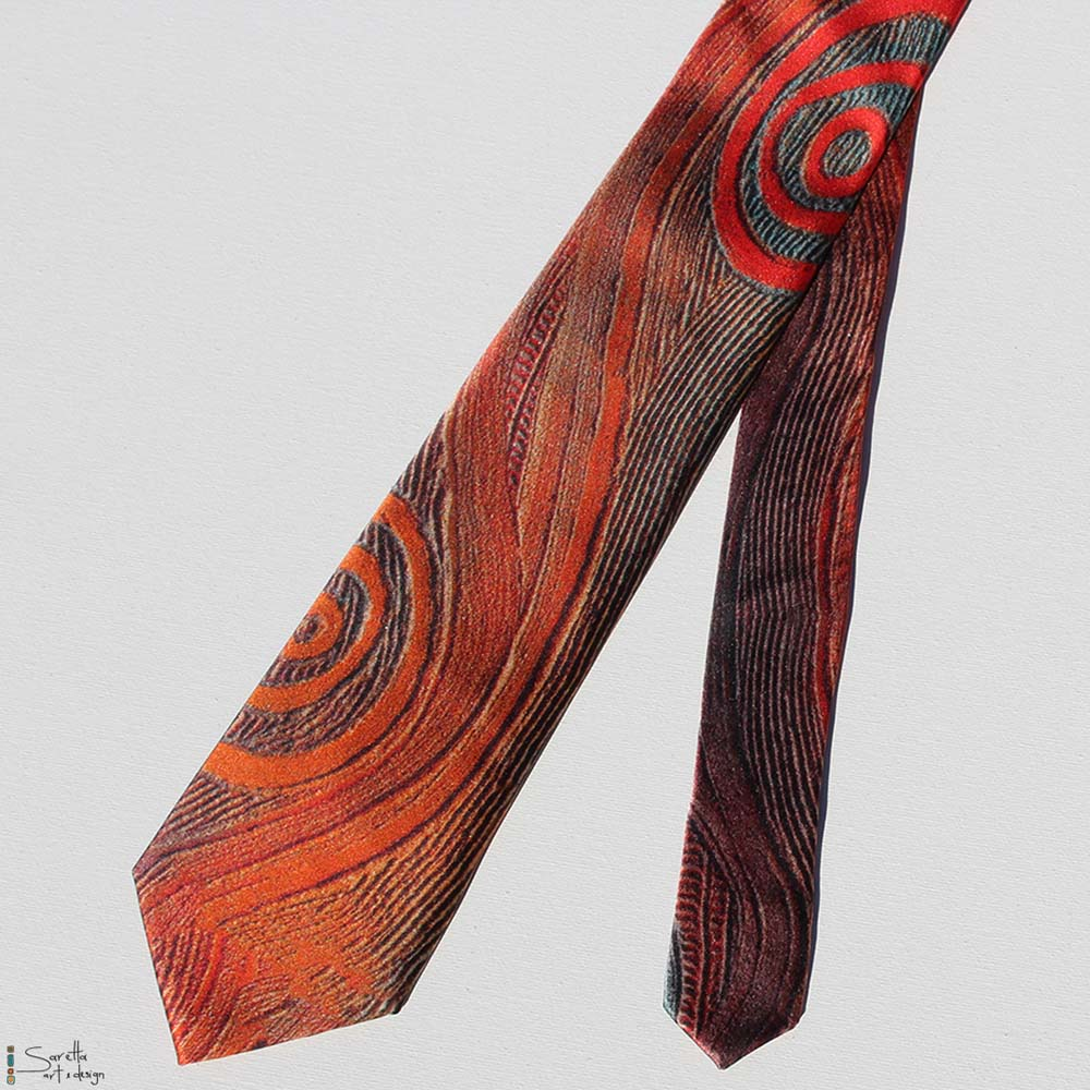 Men's Tie - Kari Kari - Beginning Time