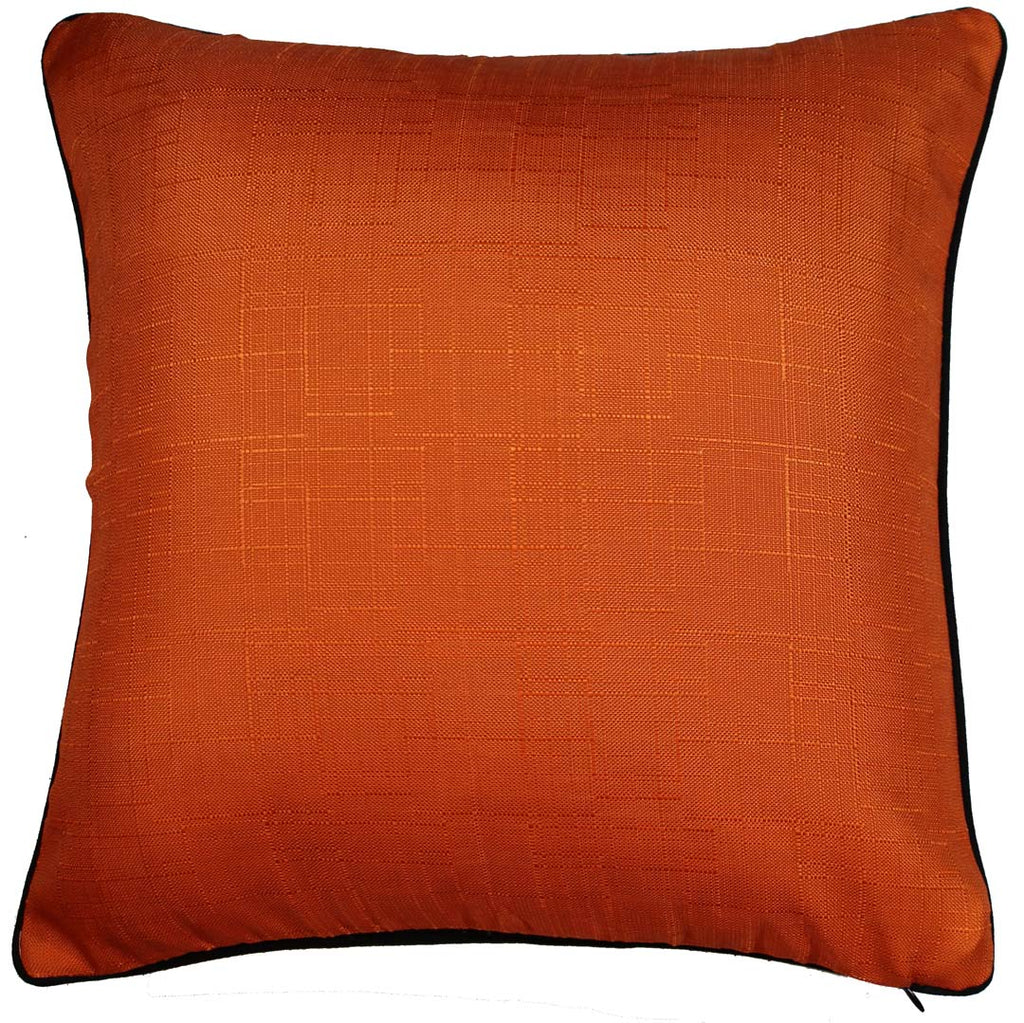 Back of Aboriginal design on cushion cover. Koyiyoong Campsite is a orange cushion cover