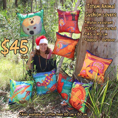 Cushion Cover - Totem Mowane Kangaroo