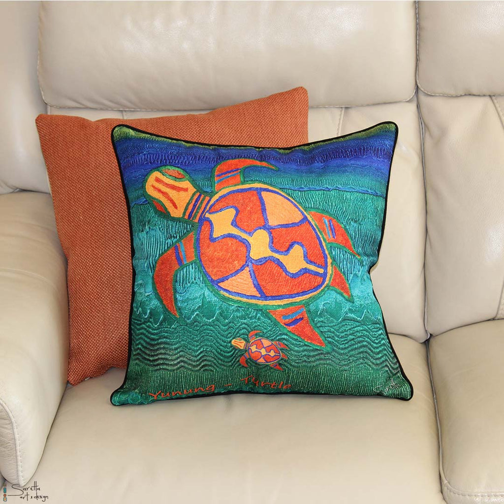 Cushion Cover - Totem Yunung Turtle