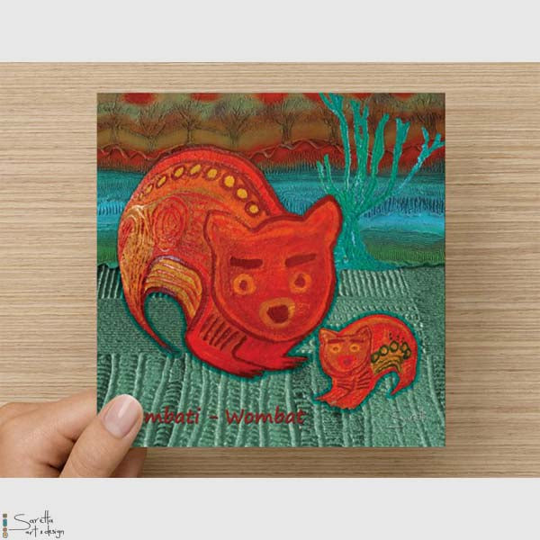Greeting Card - Wombati Wombat