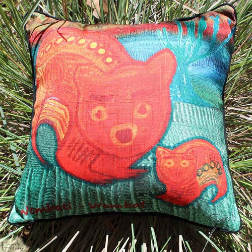 Cushion Cover - Totem Wombati Wombat