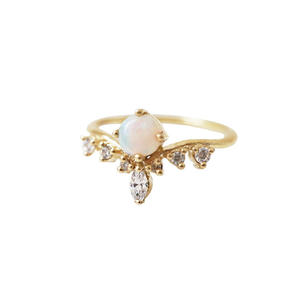 10K Australian Opal Angel Ring - Melroso