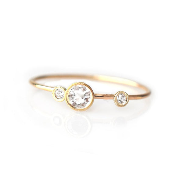 14KT Gold Diamond Adele Ring - Melroso Jewelry