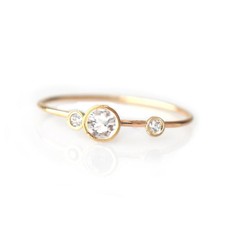 14KT Gold Diamond Adele Ring - Melroso