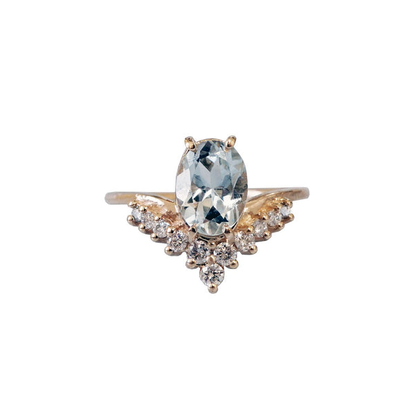 14KT All A Dream Aquamarine Ring - Melroso