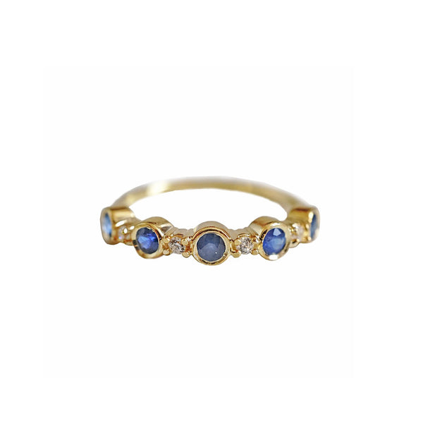 14KT Blue Sapphire Band - Melroso Jewelry