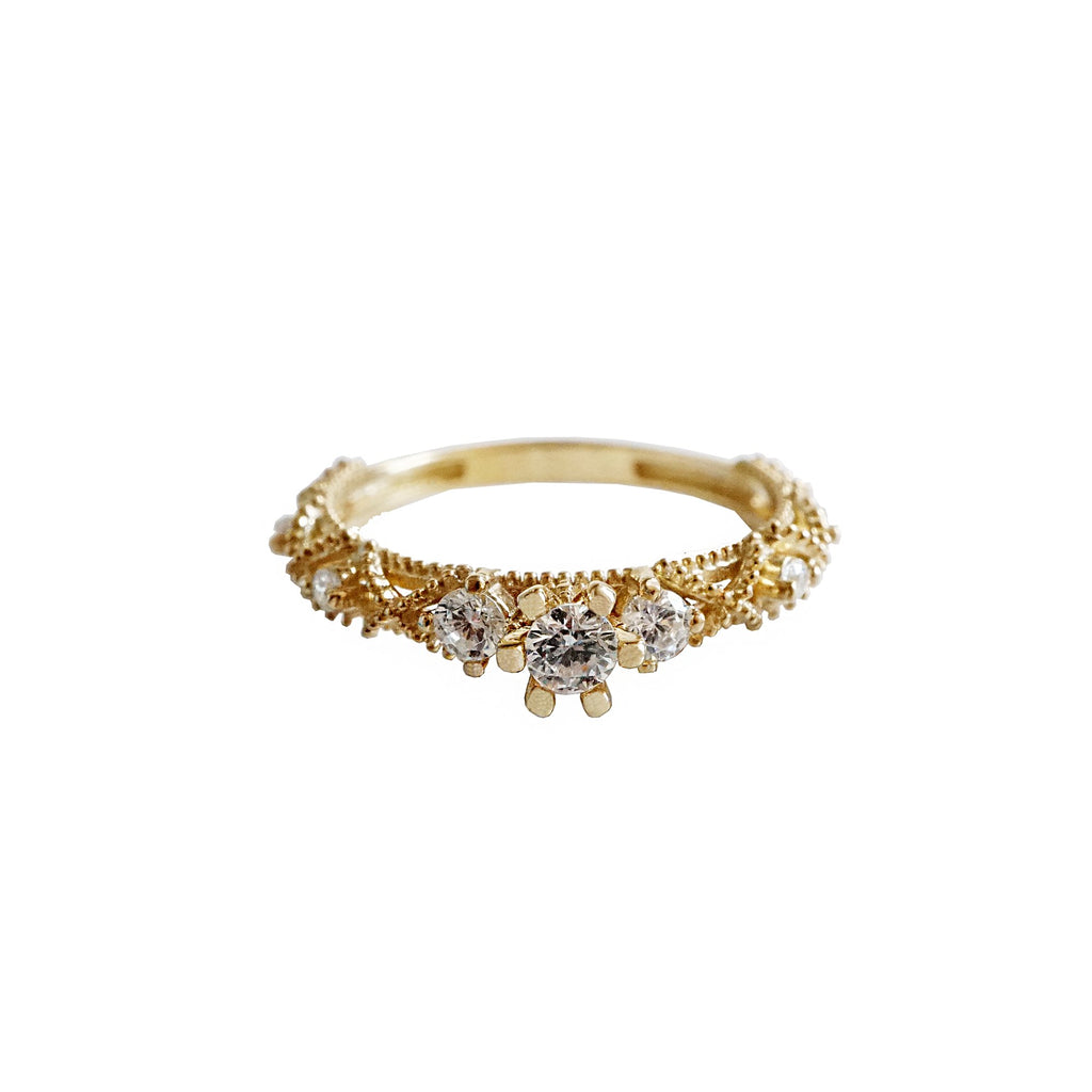 14KT Lacey Diamond Ring - Melroso Jewelry