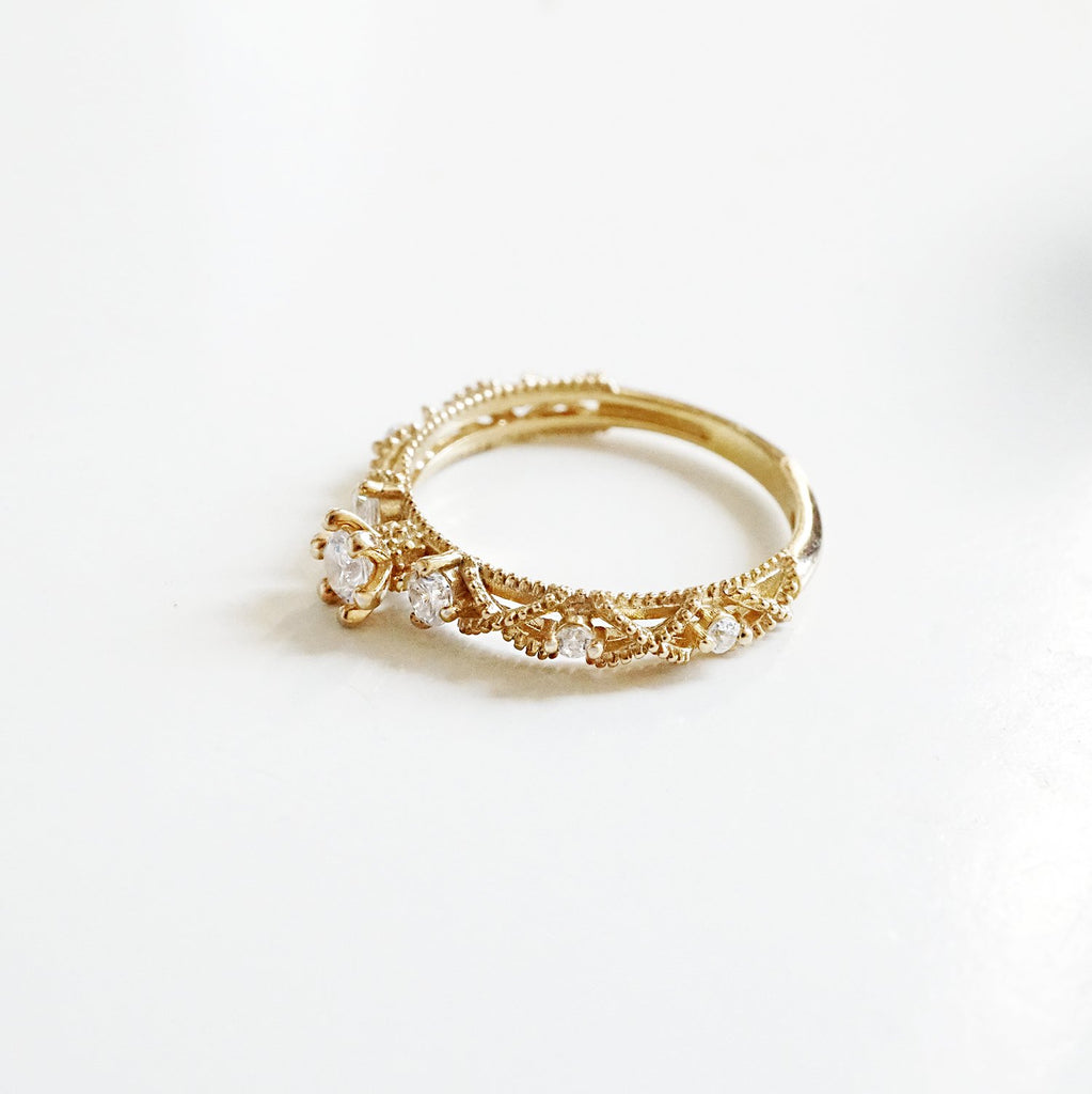 14KT Lacey Diamond Ring - Melroso