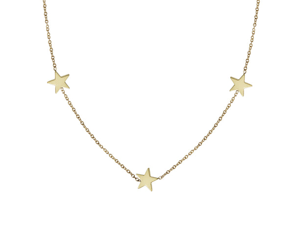 14KT Star Trio Necklace - Melroso