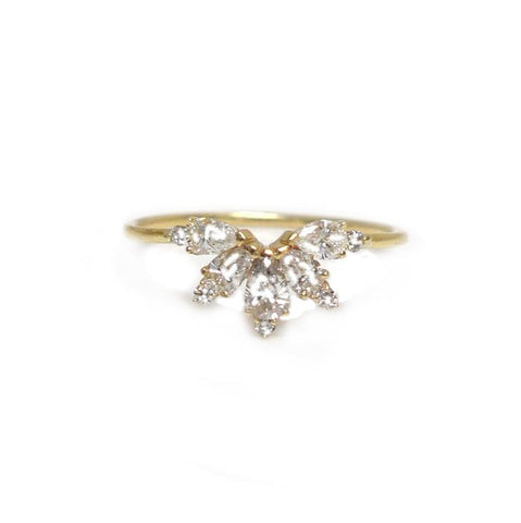 14KT Gold Diamond Parisian Butterfly Ring - Melroso