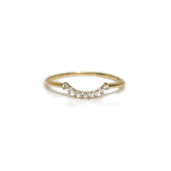 14KT Yellow Gold Cascade Ring - Melroso