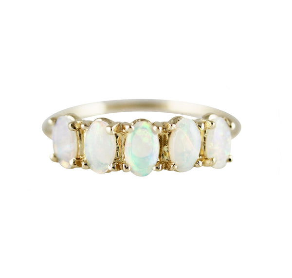 14KT 5 Oval Opal Ring - Melroso