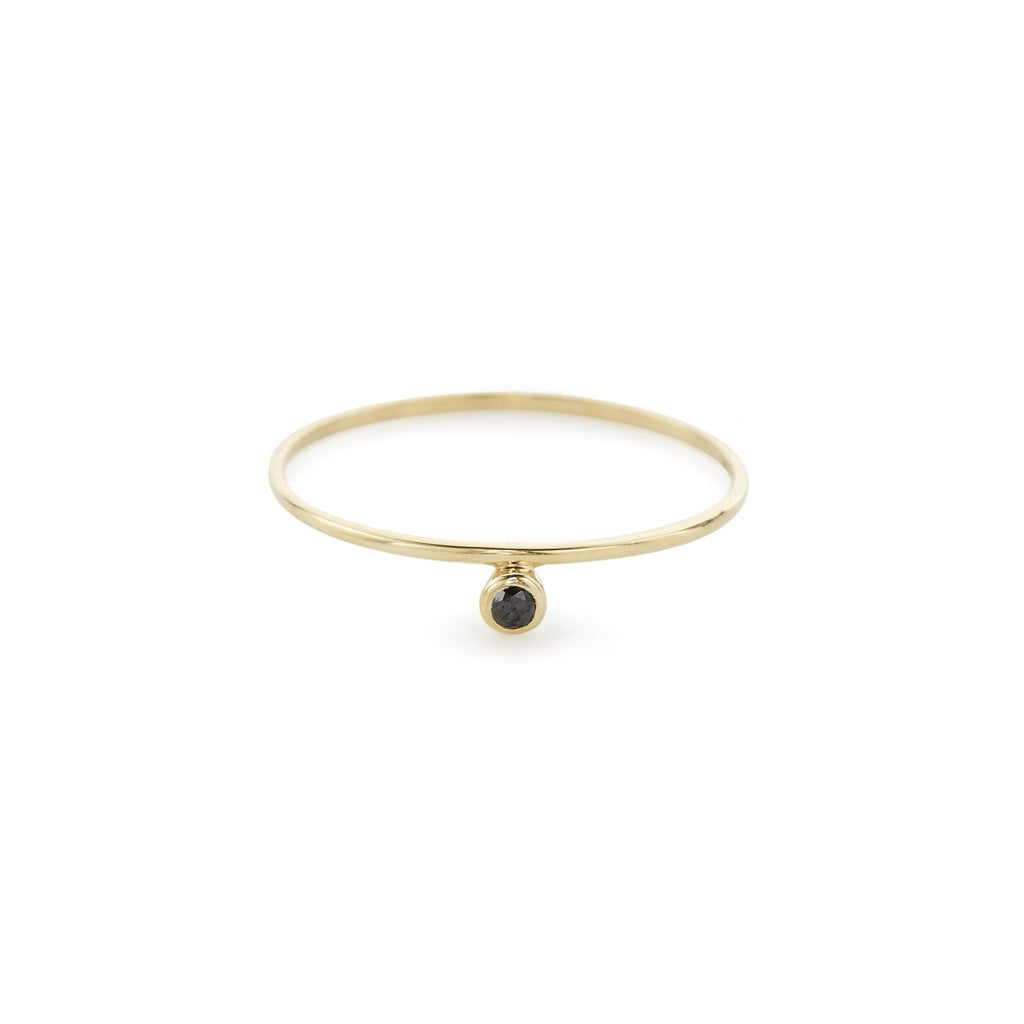 14KT Alexa Ring (Black Diamond) - Melroso