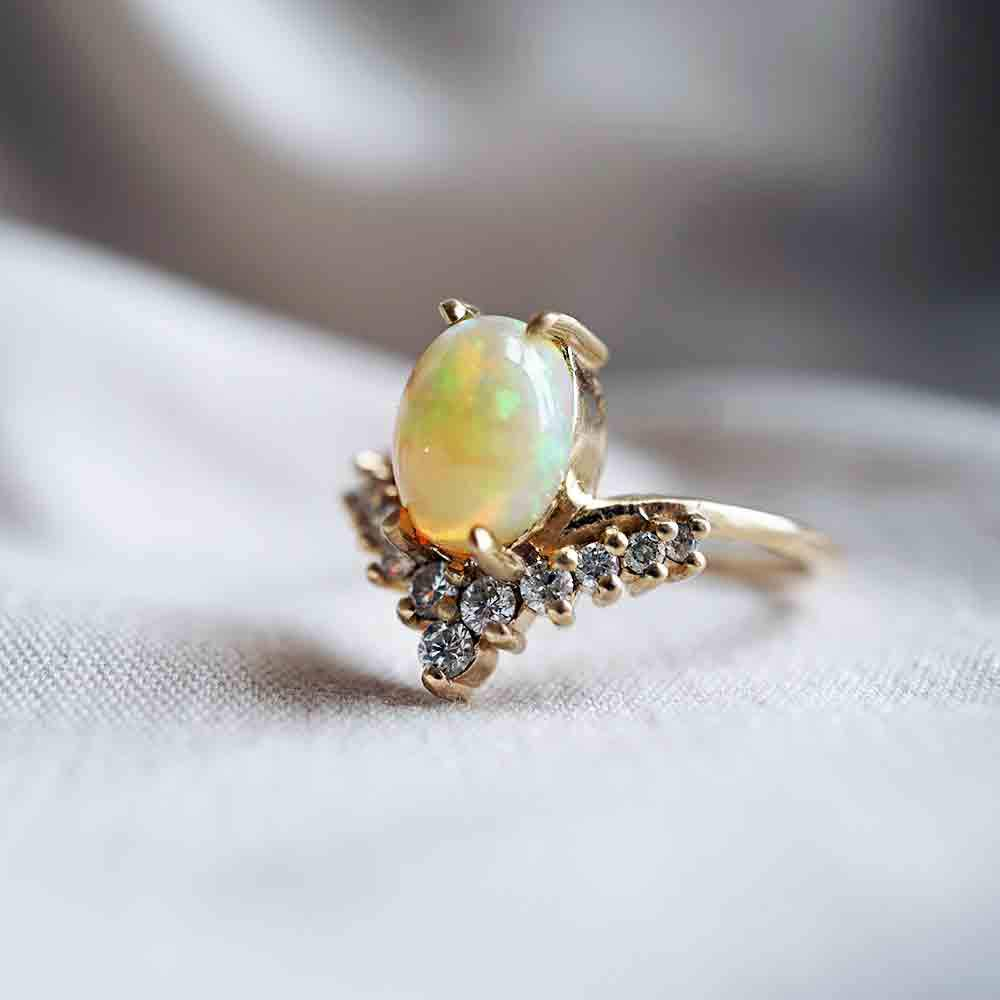 14KT All A Dream Opal Ring - Melroso