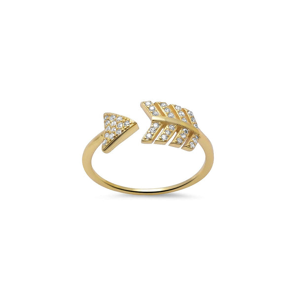 Gold Arrow Ring - Melroso