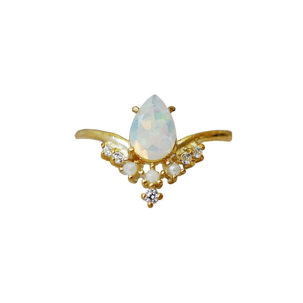 Celestial Opal Pearl Ring - Melroso Jewelry