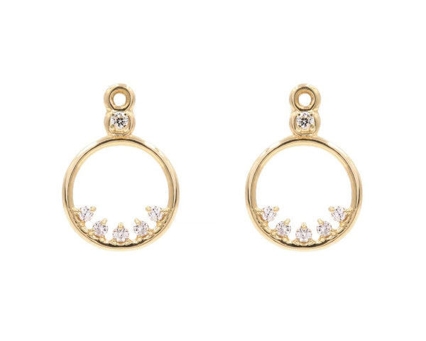 14KT Dorado Diamond Earring Jackets - Melroso