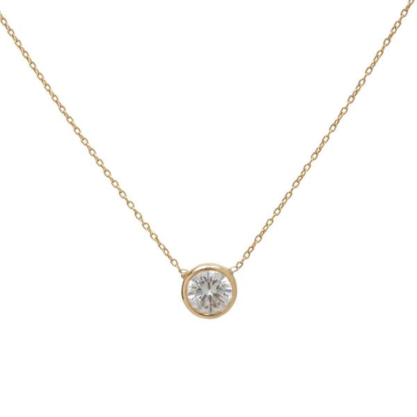 14KT Simple Diamond Necklace - Melroso Jewelry