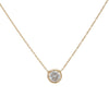 14KT Simple Diamond Necklace - Melroso