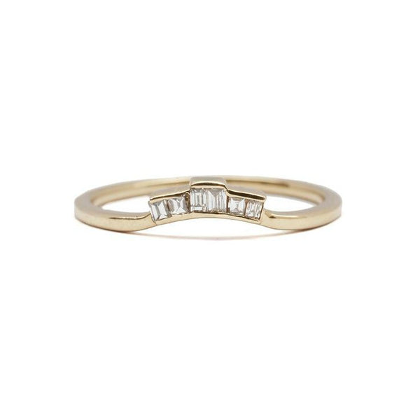 14KT Diamond Baguette Ring Topper - Melroso Jewelry