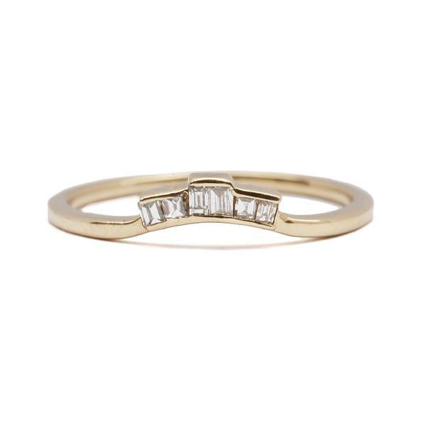 14KT Diamond Baguette Ring Topper - Melroso