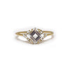 14kt Gold Diamond & Topaz Aphrodite Shield Ring - Melroso