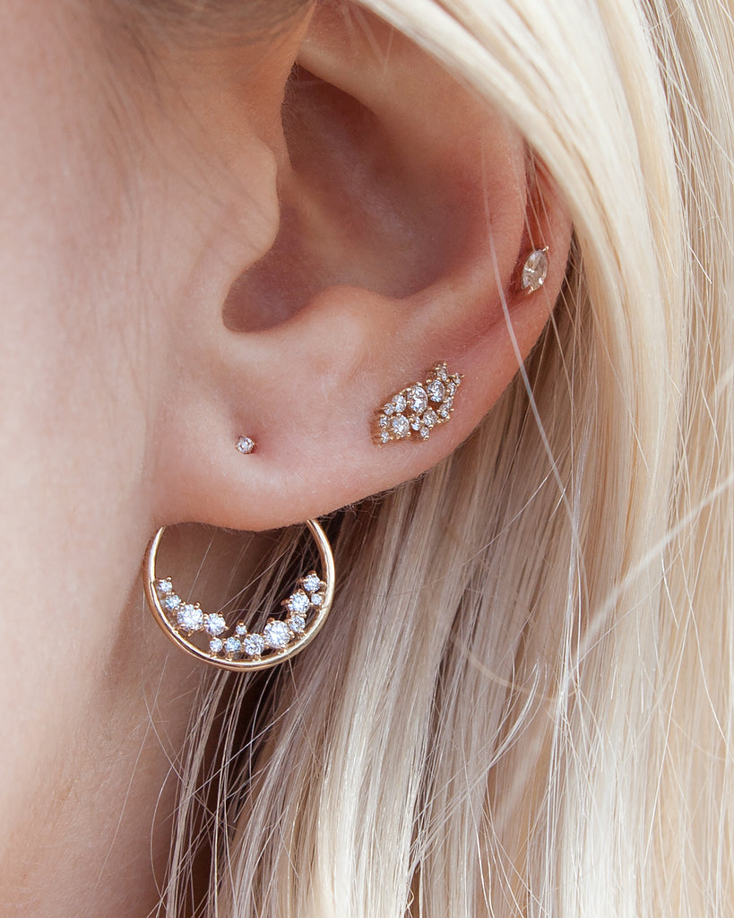 14KT Callisto Stud Earrings - Melroso