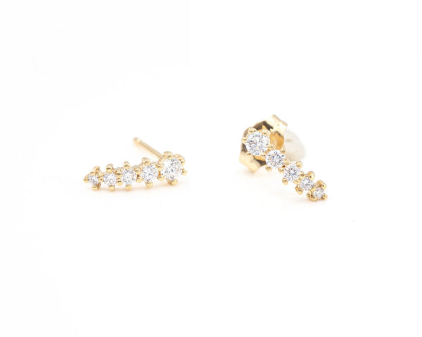 14KT Briar Diamond Earrings - Melroso