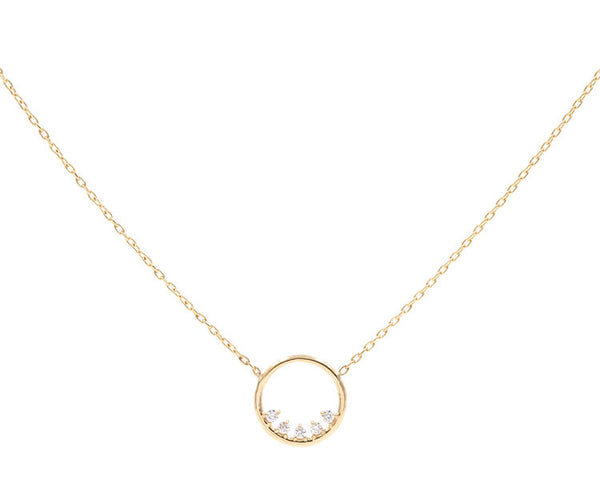 14KT Dorado Diamond Necklace - Melroso