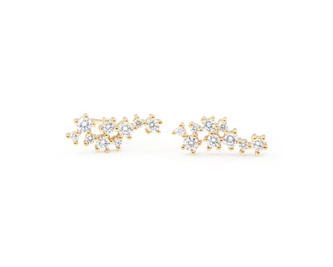 14KT Mae Large Cluster Studs - Melroso Jewelry