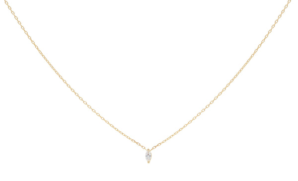 14KT Rise Charm Necklace - Melroso Jewelry