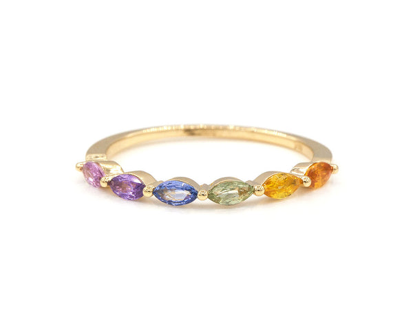 14KT Rainbow Sun King Ring - Melroso