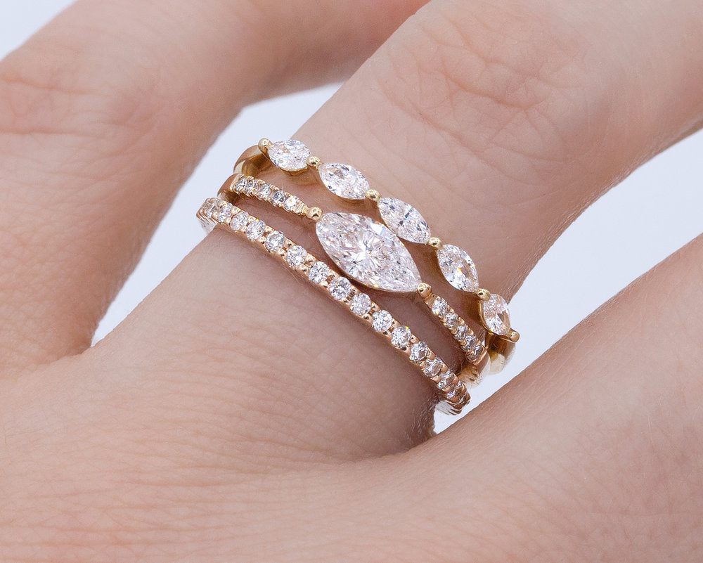 White Diamond Sun King Ring - Melroso Jewelry