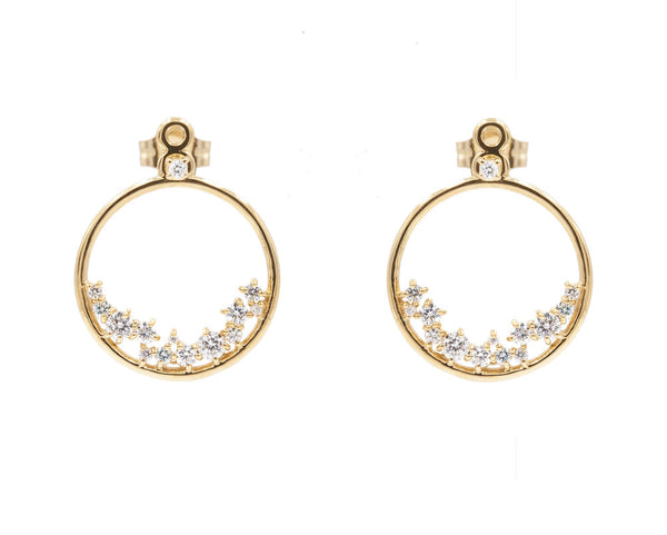 14KT Hydra Diamond Earring Jackets - Melroso Jewelry