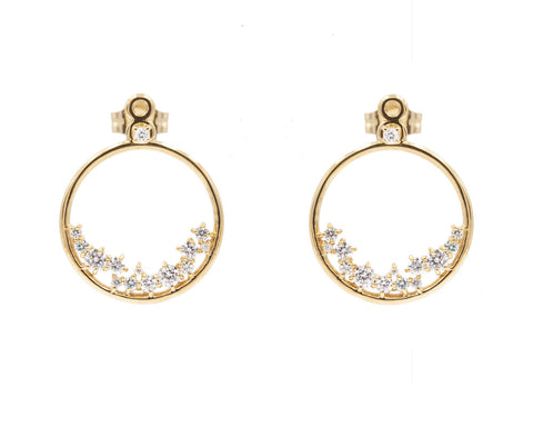 14KT Hydra Diamond Earring Jackets - Melroso
