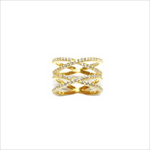 Pavé Double X Ring - Melroso - Melroso - 2
